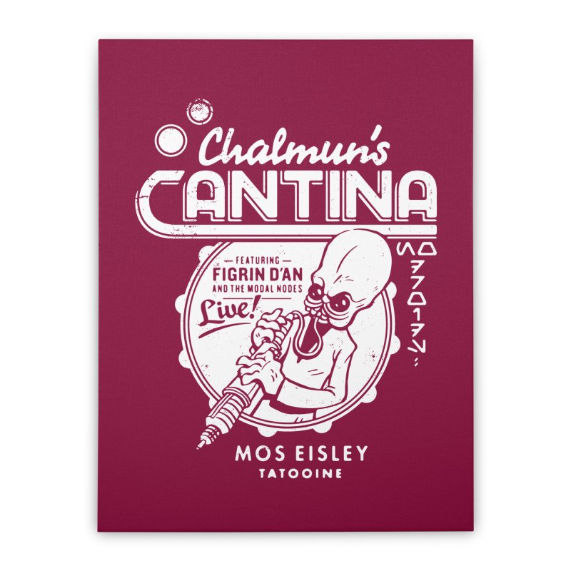 Chalmun's Cantina Home Stretched Canvas by Spencer Fruhling's Artist Shop