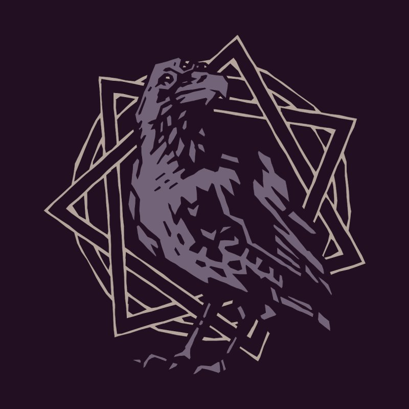 Three-Eyed Raven Men's T-Shirt by Spencer Fruhling's Artist Shop