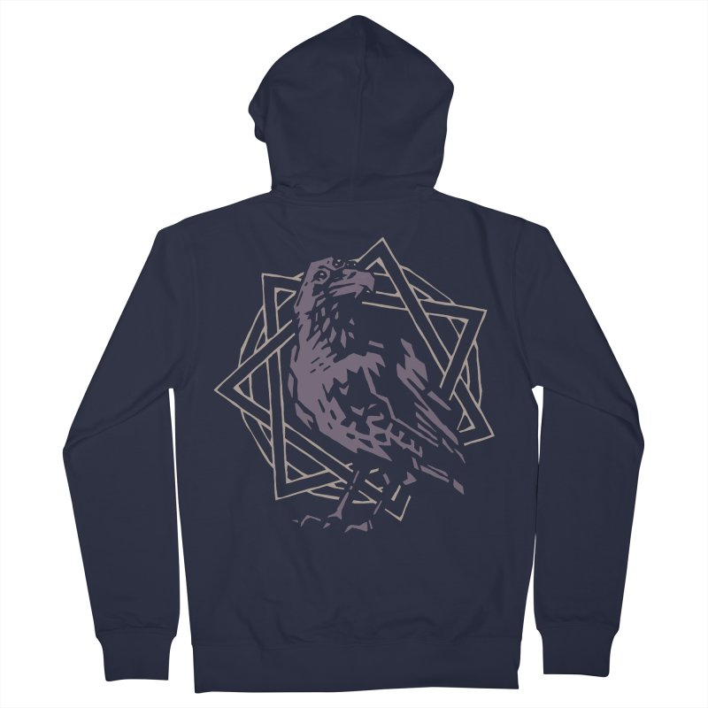Three-Eyed Raven Men's Zip-Up Hoody by Spencer Fruhling's Artist Shop