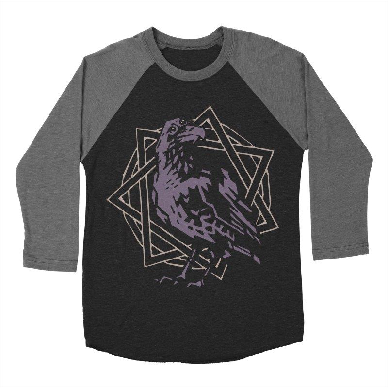 Three-Eyed Raven Men's Baseball Triblend T-Shirt by Spencer Fruhling's Artist Shop