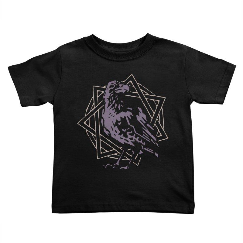 Three-Eyed Raven Kids Toddler T-Shirt by Spencer Fruhling's Artist Shop