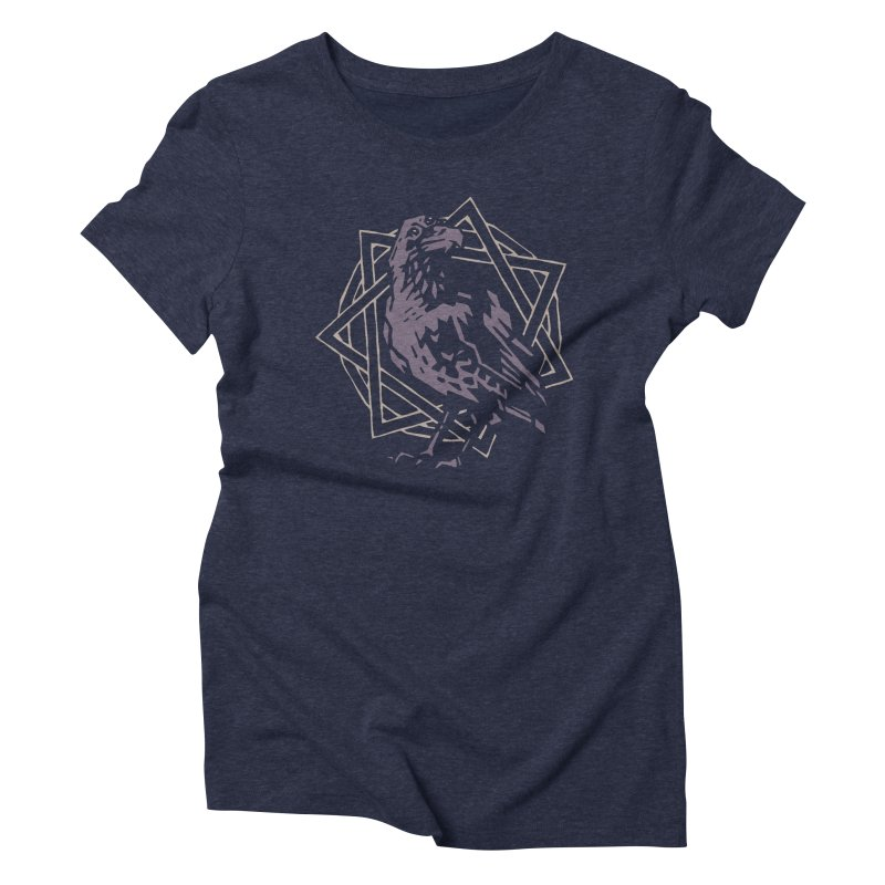 Three-Eyed Raven Women's Triblend T-shirt by Spencer Fruhling's Artist Shop