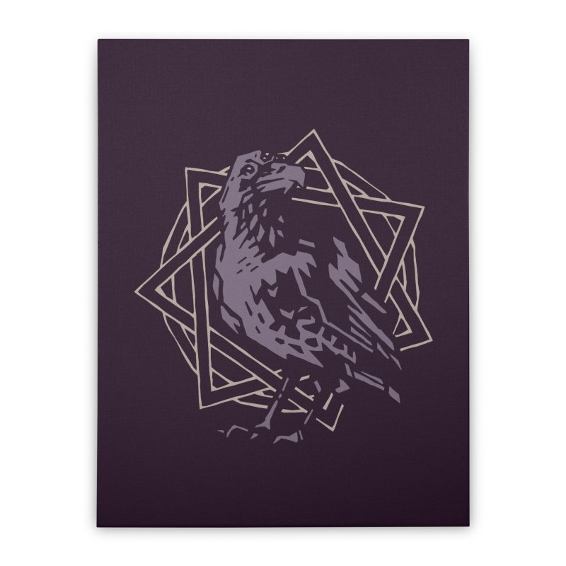 Three-Eyed Raven Home Stretched Canvas by Spencer Fruhling's Artist Shop