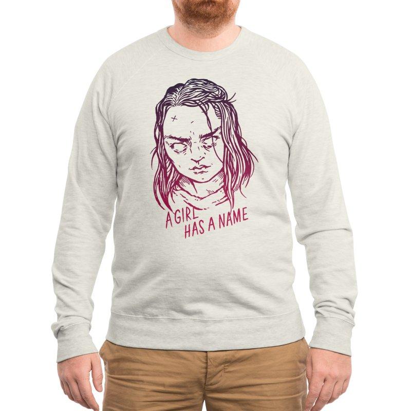 A Girl Has A Name Men's Sweatshirt by Spencer Fruhling's Artist Shop