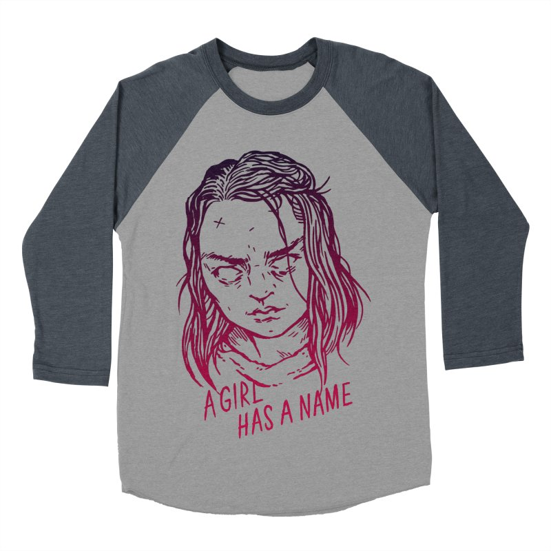 A Girl Has A Name Men's Baseball Triblend T-Shirt by Spencer Fruhling's Artist Shop