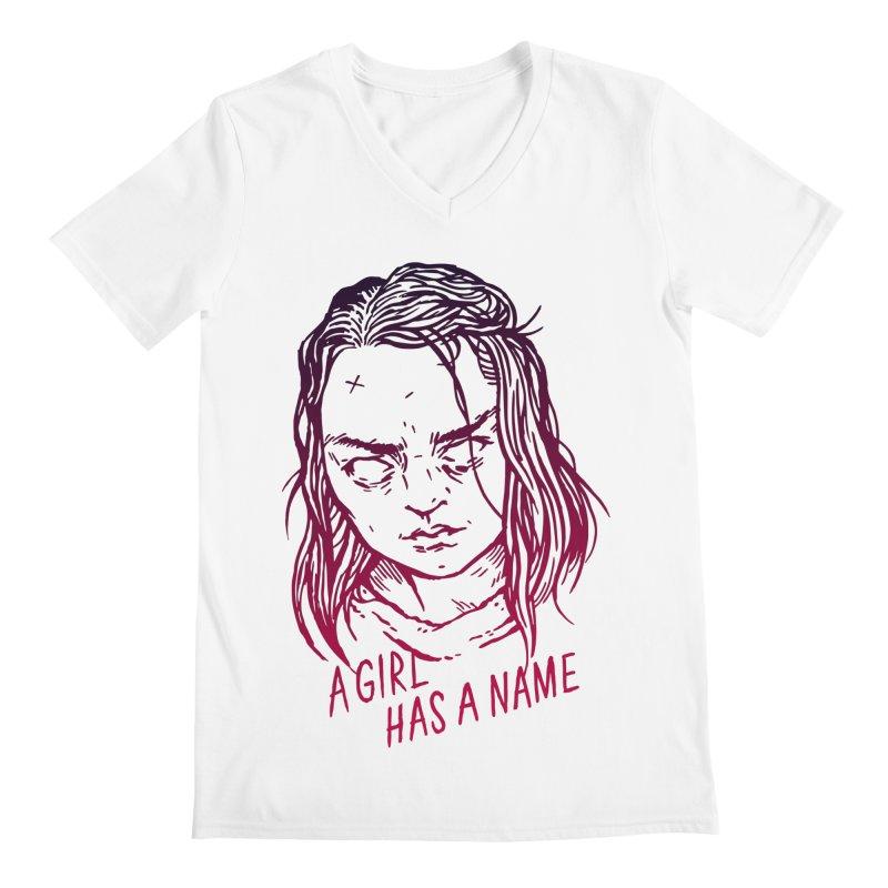 A Girl Has A Name Men's V-Neck by Spencer Fruhling's Artist Shop
