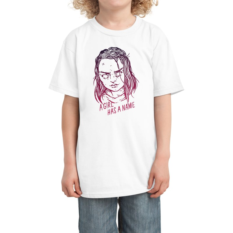 A Girl Has A Name Kids T-Shirt by Spencer Fruhling's Artist Shop