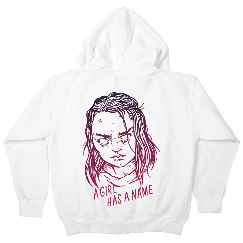 A Girl Has A Name Kids Zip-Up Hoody by Spencer Fruhling's Artist Shop