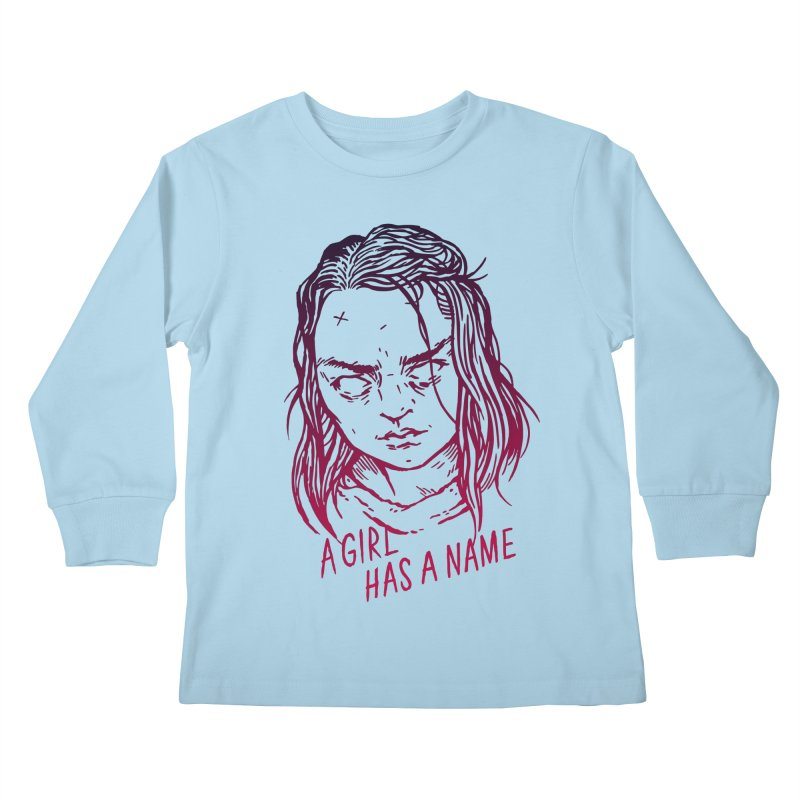 A Girl Has A Name Kids Longsleeve T-Shirt by Spencer Fruhling's Artist Shop