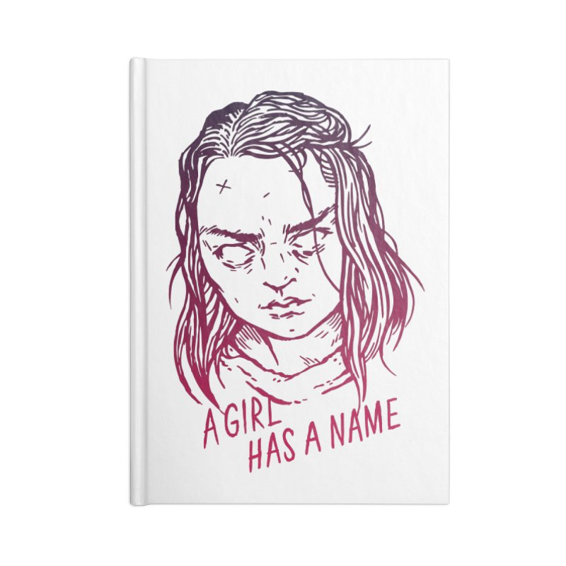 A Girl Has A Name Accessories Notebook by Spencer Fruhling's Artist Shop