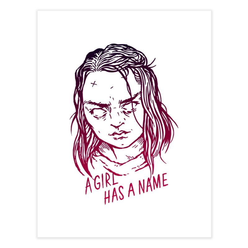 A Girl Has A Name Home Fine Art Print by Spencer Fruhling's Artist Shop