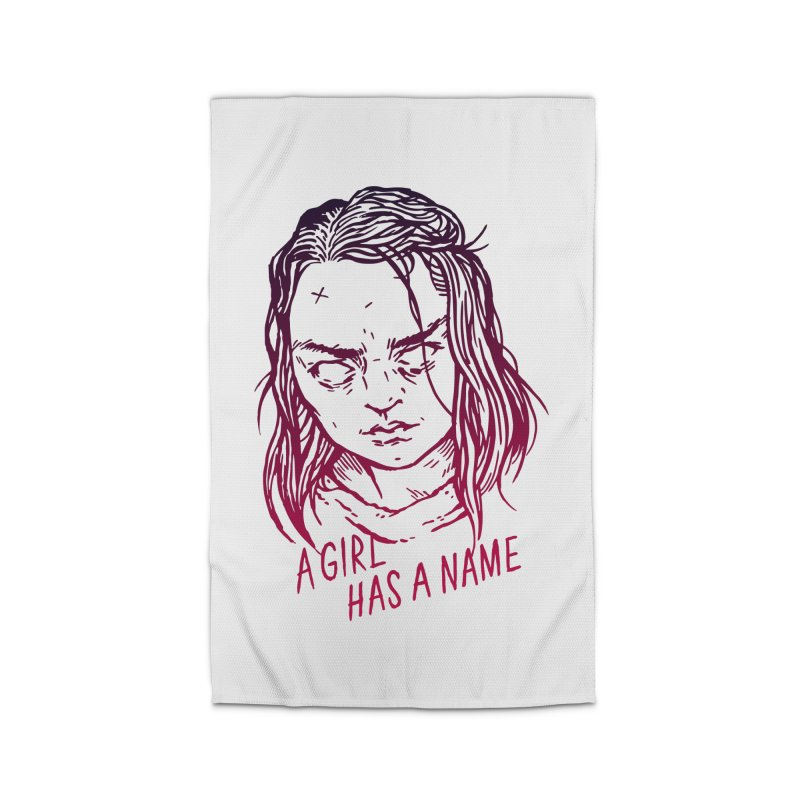 A Girl Has A Name Home Rug by Spencer Fruhling's Artist Shop