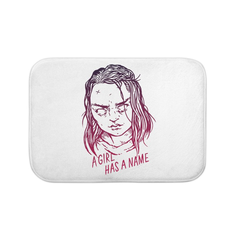 A Girl Has A Name Home Bath Mat by Spencer Fruhling's Artist Shop