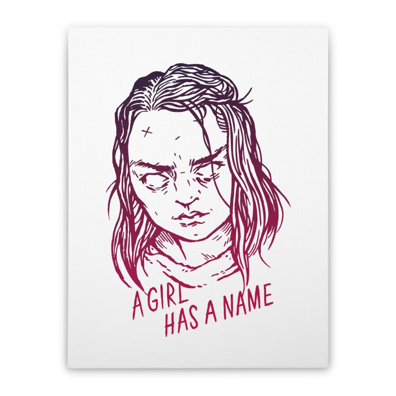 A Girl Has A Name Home Stretched Canvas by Spencer Fruhling's Artist Shop