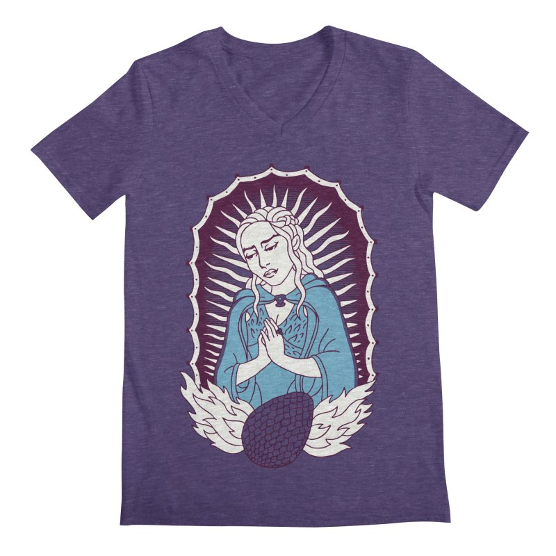 Mother of Dragons Men's V-Neck by Spencer Fruhling's Artist Shop