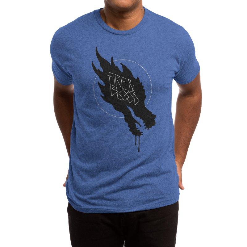 Fire & Blood Men's T-Shirt by Spencer Fruhling's Artist Shop