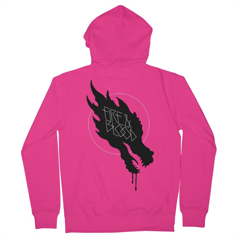 Fire & Blood Men's Zip-Up Hoody by Spencer Fruhling's Artist Shop