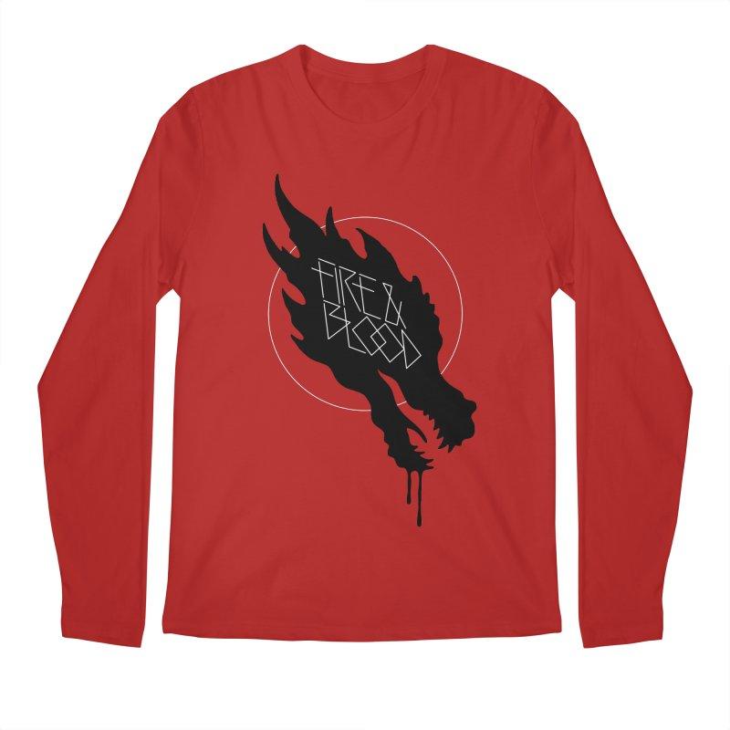 Fire & Blood Men's Longsleeve T-Shirt by Spencer Fruhling's Artist Shop