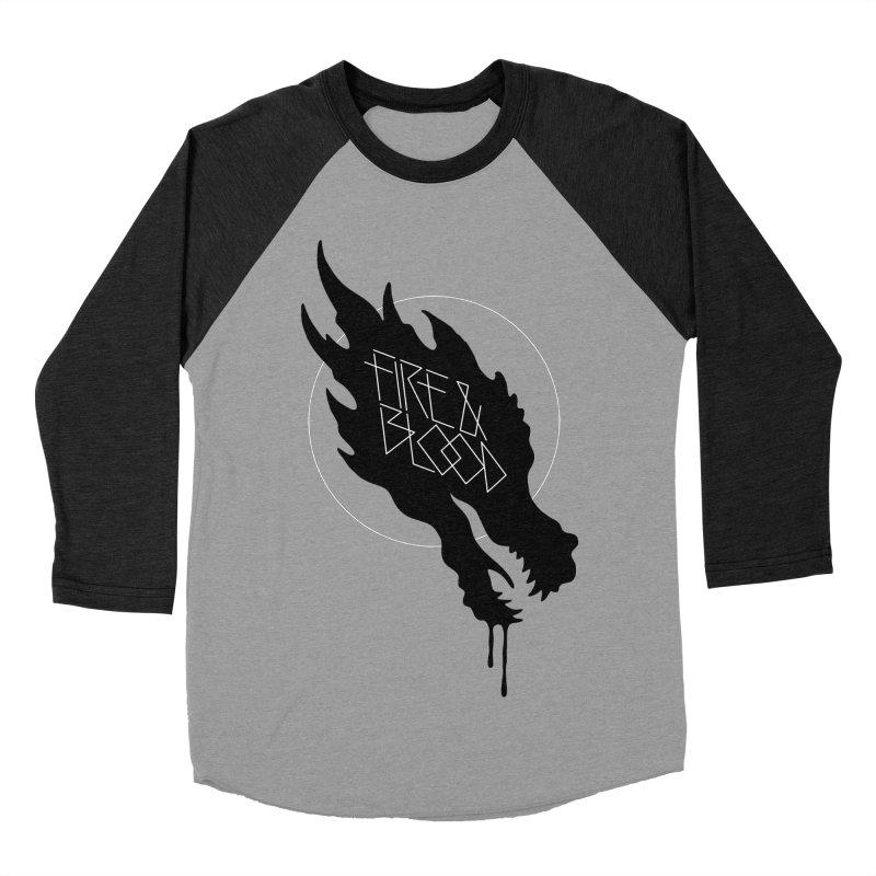 Fire & Blood Women's Baseball Triblend T-Shirt by Spencer Fruhling's Artist Shop