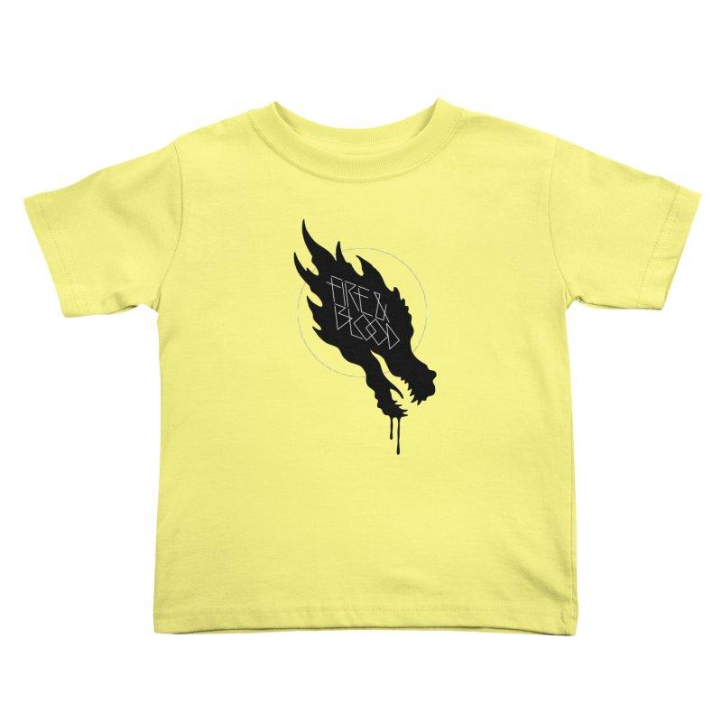 Fire & Blood Kids Toddler T-Shirt by Spencer Fruhling's Artist Shop
