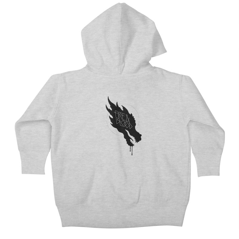 Fire & Blood Kids Baby Zip-Up Hoody by Spencer Fruhling's Artist Shop