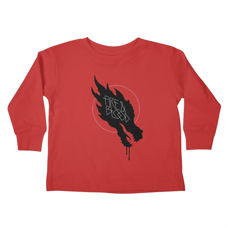 Fire & Blood Kids Toddler Longsleeve T-Shirt by Spencer Fruhling's Artist Shop
