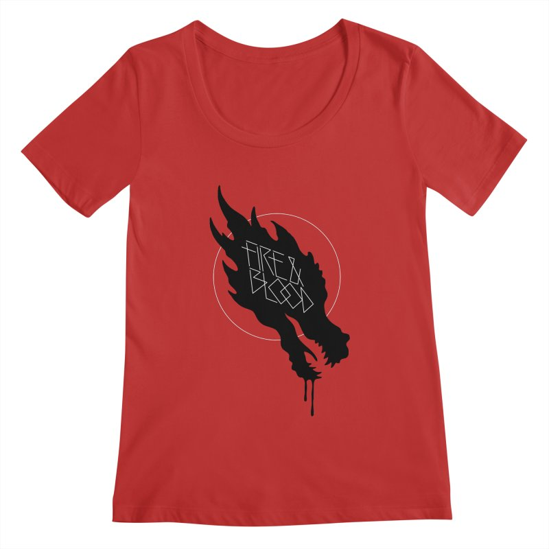Fire & Blood Women's Scoopneck by Spencer Fruhling's Artist Shop