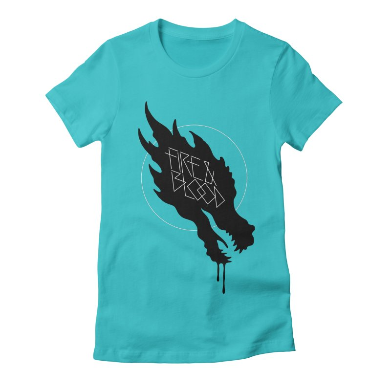 Fire & Blood Women's Fitted T-Shirt by Spencer Fruhling's Artist Shop