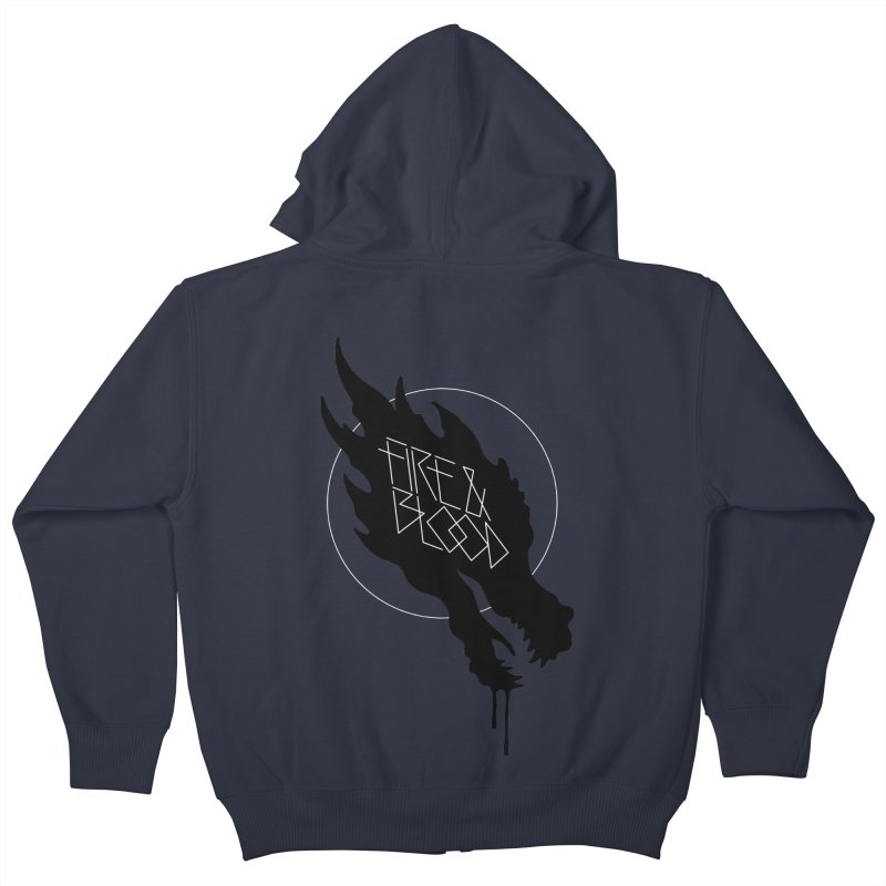 Fire & Blood Kids Zip-Up Hoody by Spencer Fruhling's Artist Shop