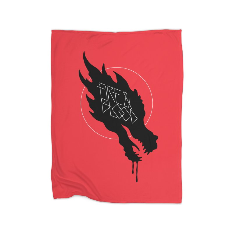 Fire & Blood Home Blanket by Spencer Fruhling's Artist Shop