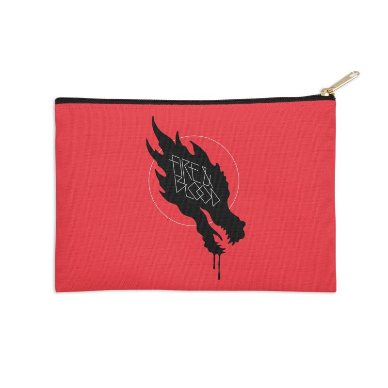 Fire & Blood Accessories Zip Pouch by Spencer Fruhling's Artist Shop