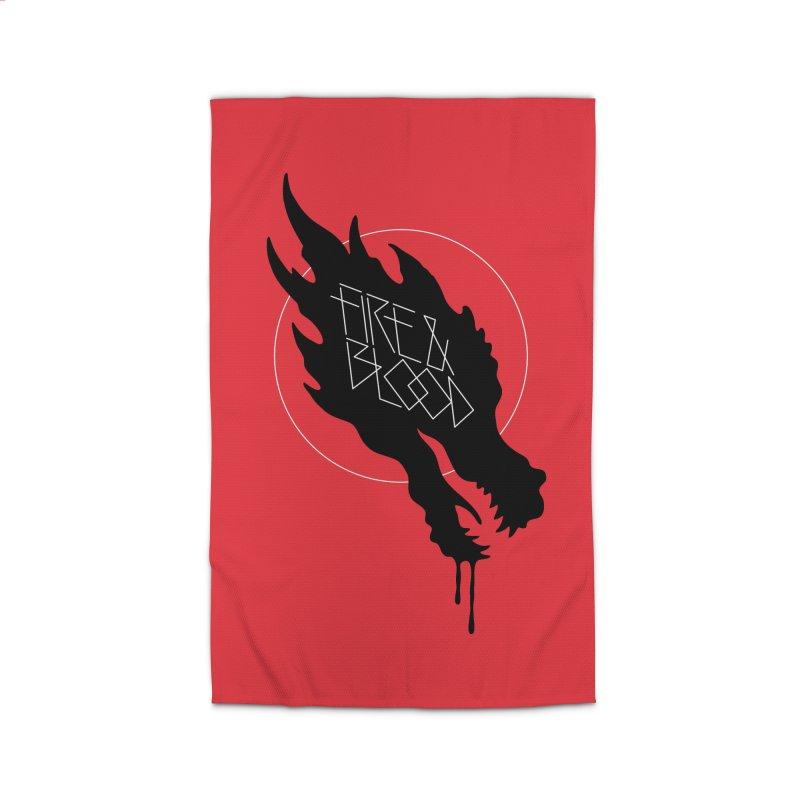 Fire & Blood Home Rug by Spencer Fruhling's Artist Shop