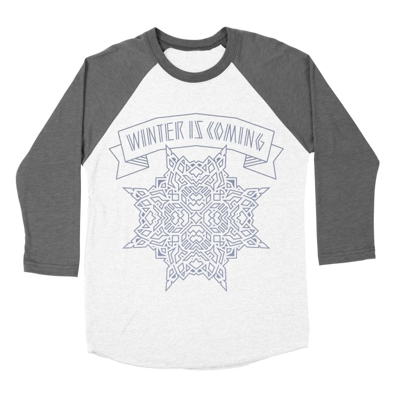 Winter Is Coming Women's Baseball Triblend T-Shirt by Spencer Fruhling's Artist Shop