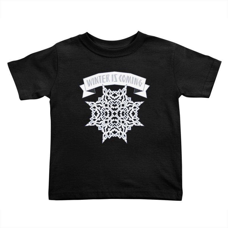 Winter Is Coming Kids Toddler T-Shirt by Spencer Fruhling's Artist Shop