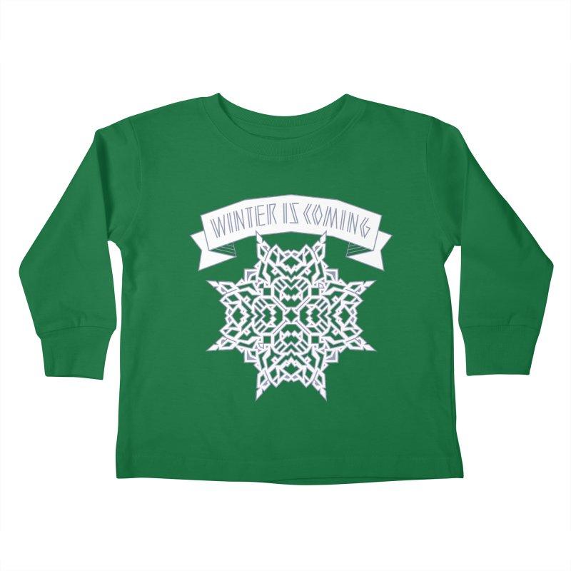 Winter Is Coming Kids Toddler Longsleeve T-Shirt by Spencer Fruhling's Artist Shop