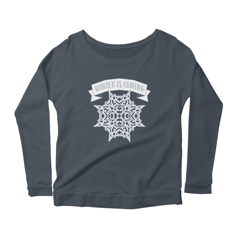 Winter Is Coming Women's Longsleeve Scoopneck  by Spencer Fruhling's Artist Shop