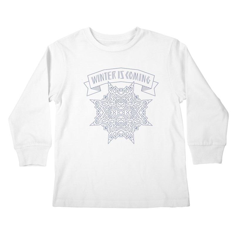 Winter Is Coming Kids Longsleeve T-Shirt by Spencer Fruhling's Artist Shop