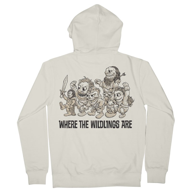 Where The Wildlings Are Men's Zip-Up Hoody by Spencer Fruhling's Artist Shop