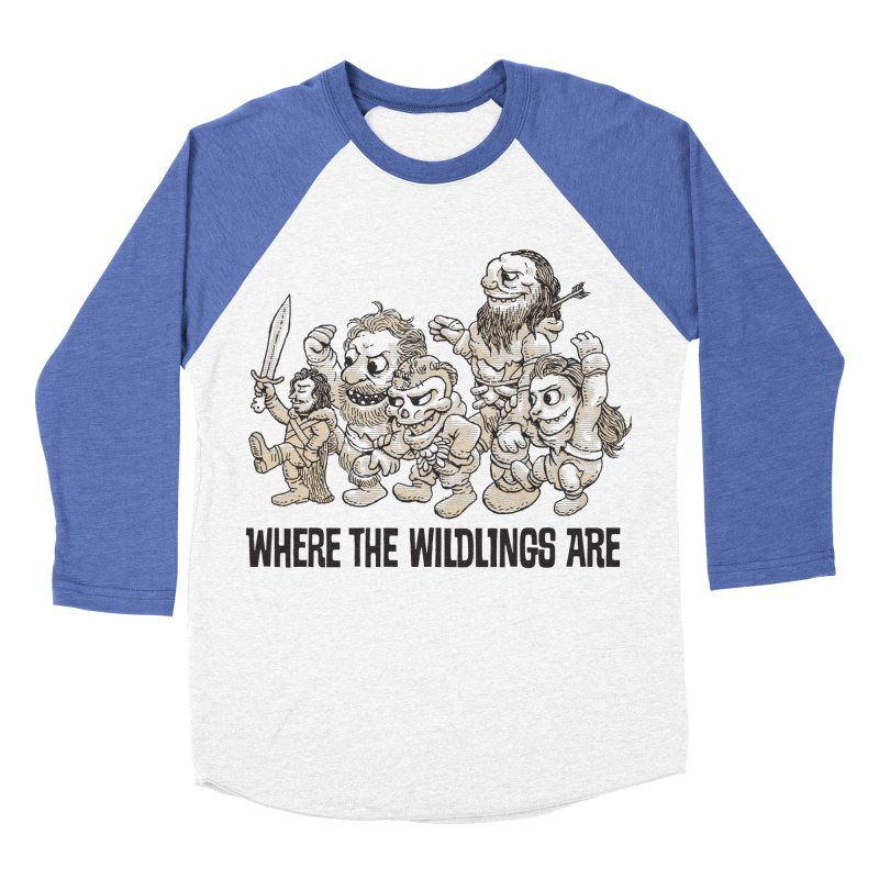 Where The Wildlings Are Women's Baseball Triblend T-Shirt by Spencer Fruhling's Artist Shop