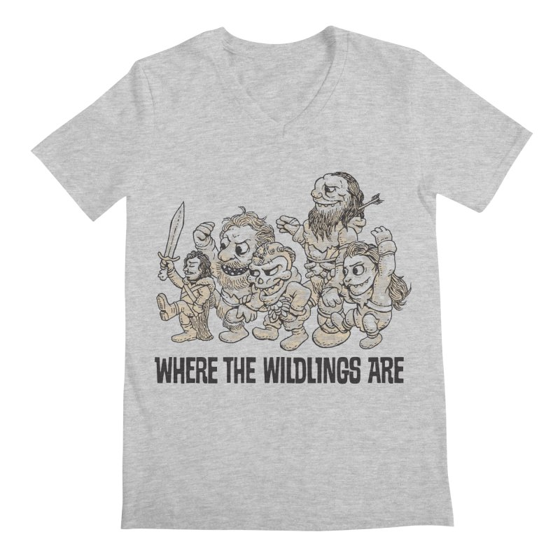 Where The Wildlings Are Men's V-Neck by Spencer Fruhling's Artist Shop