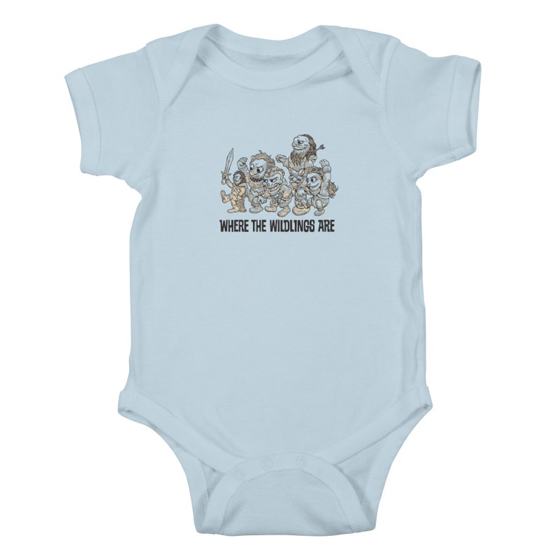 Where The Wildlings Are Kids Baby Bodysuit by Spencer Fruhling's Artist Shop
