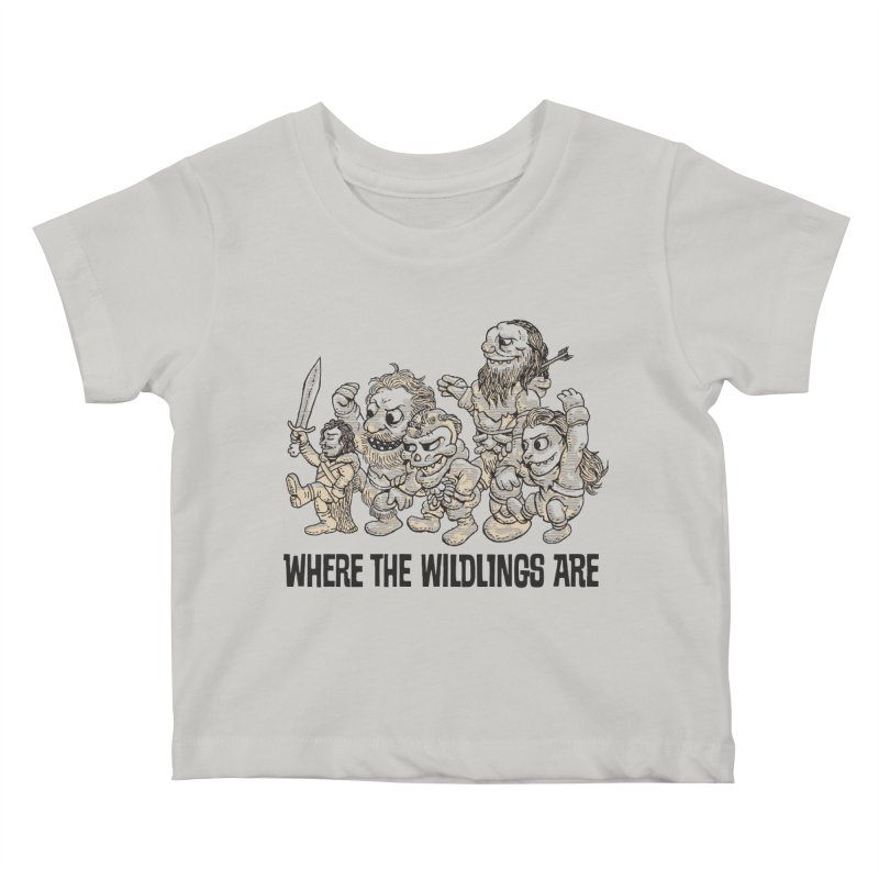 Where The Wildlings Are Kids Baby T-Shirt by Spencer Fruhling's Artist Shop