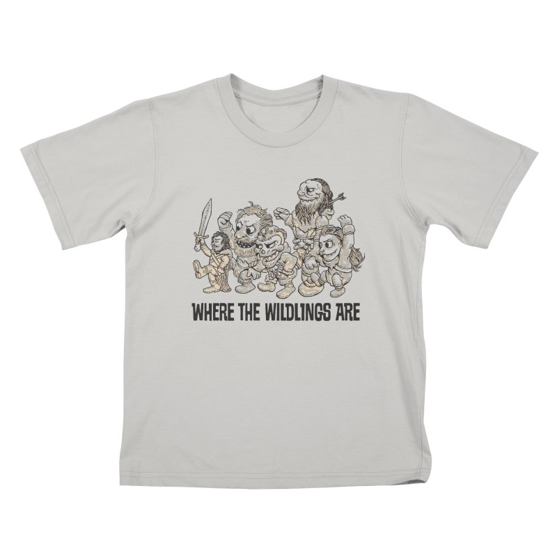 Where The Wildlings Are Kids T-shirt by Spencer Fruhling's Artist Shop