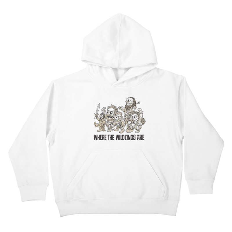 Where The Wildlings Are Kids Pullover Hoody by Spencer Fruhling's Artist Shop