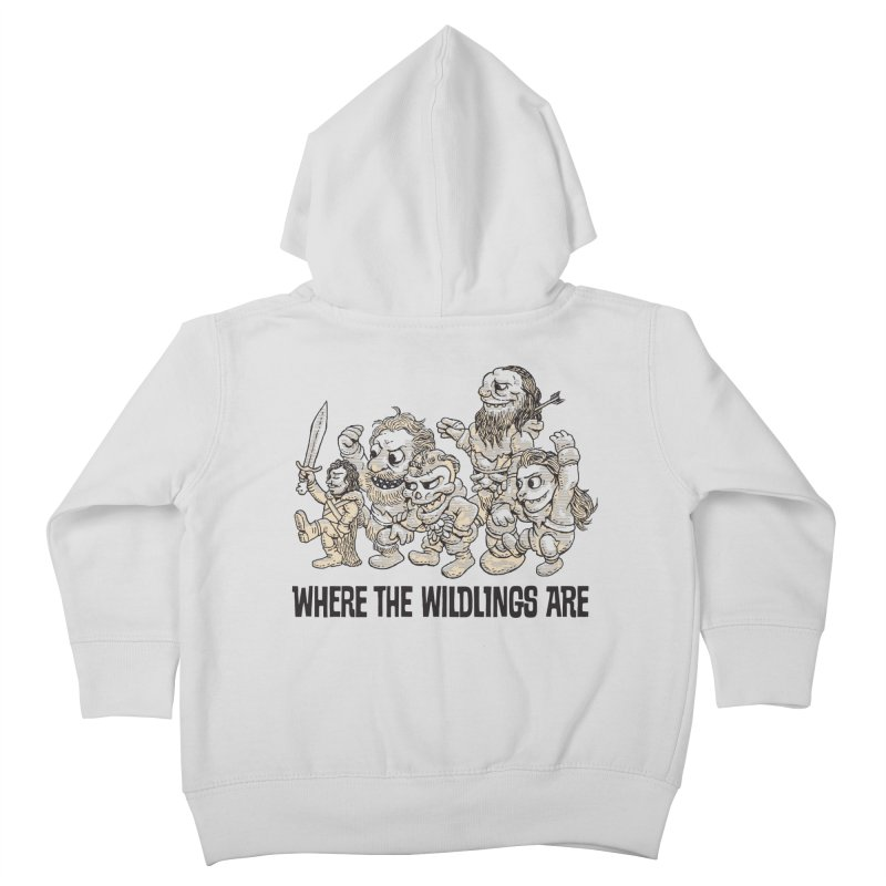 Where The Wildlings Are Kids Toddler Zip-Up Hoody by Spencer Fruhling's Artist Shop