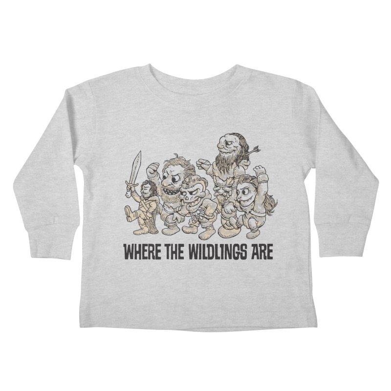 Where The Wildlings Are Kids Toddler Longsleeve T-Shirt by Spencer Fruhling's Artist Shop