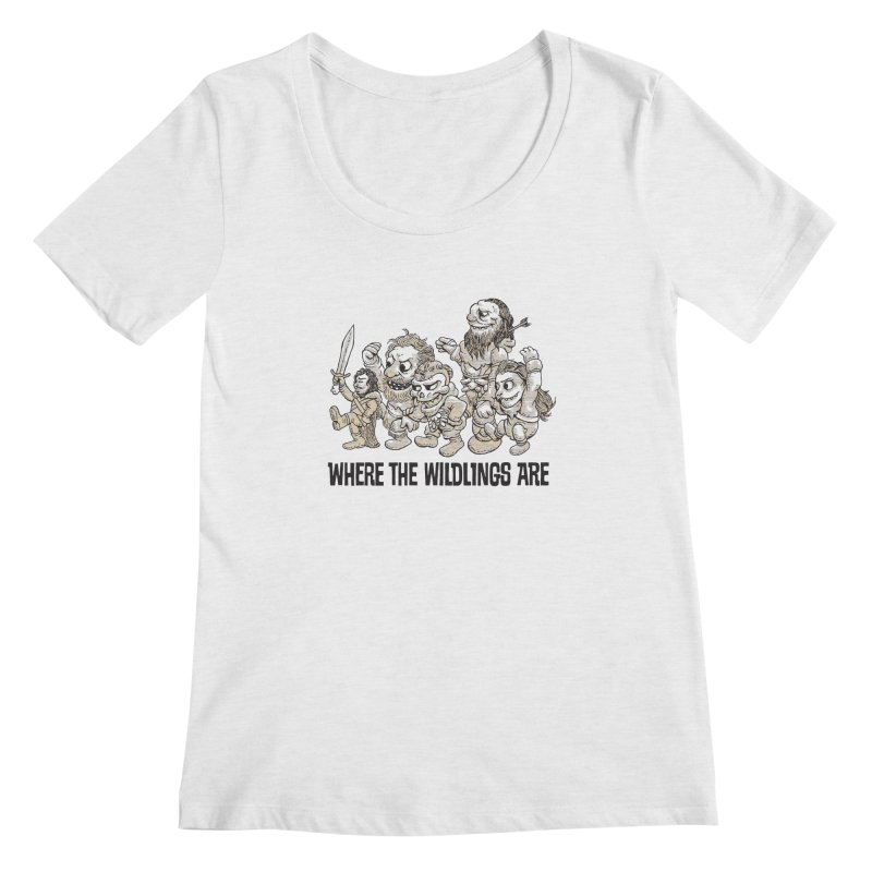 Where The Wildlings Are Women's Scoopneck by Spencer Fruhling's Artist Shop