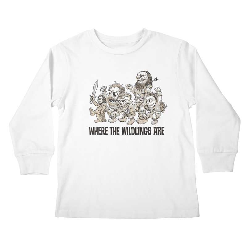 Where The Wildlings Are Kids Longsleeve T-Shirt by Spencer Fruhling's Artist Shop