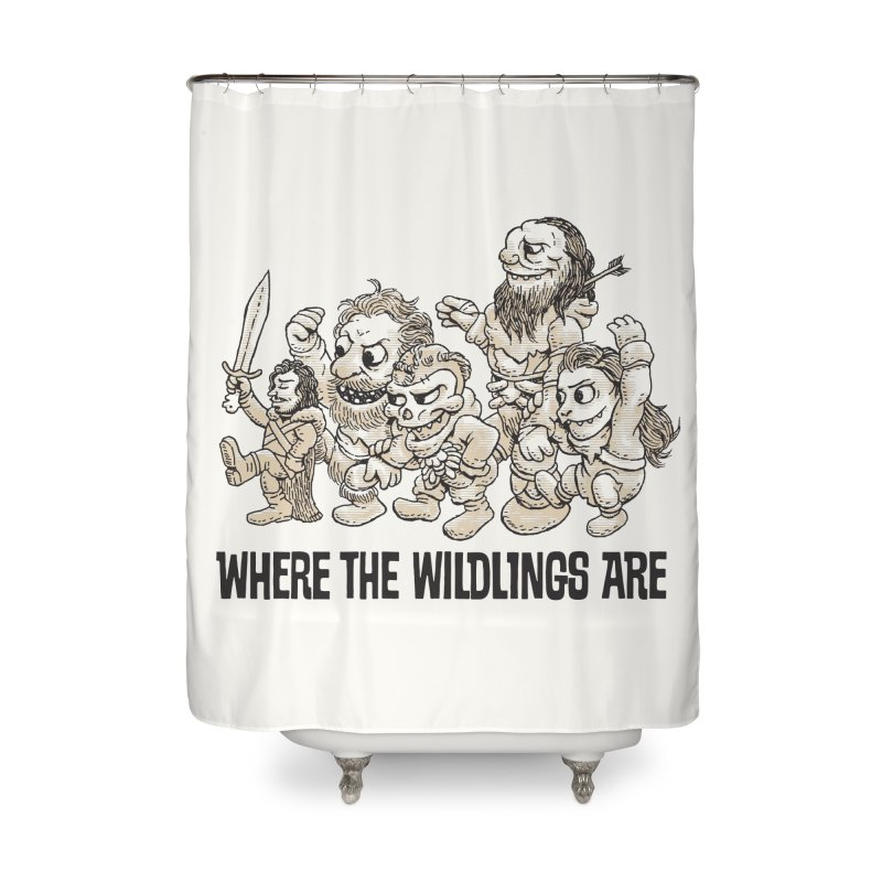 Where The Wildlings Are Home Shower Curtain by Spencer Fruhling's Artist Shop