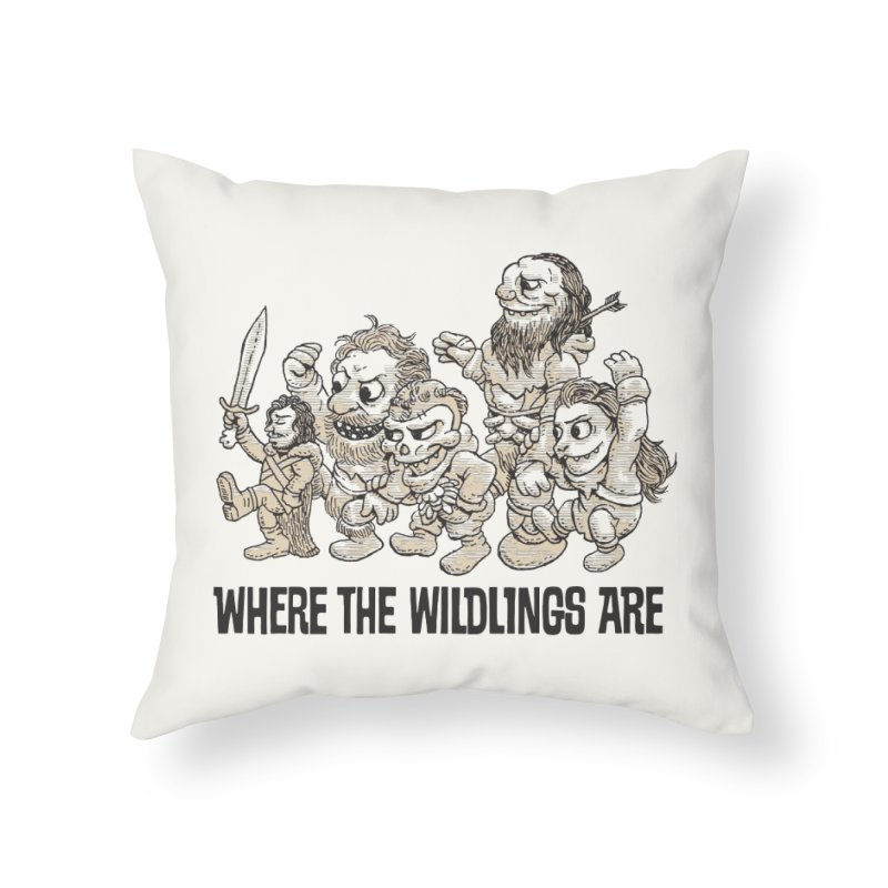 Where The Wildlings Are Home Throw Pillow by Spencer Fruhling's Artist Shop